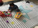 Best Children S Floor Mats Rectangle Shape Grey Stripe Stars Print Children S Play Mat soft