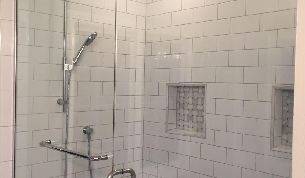 Best Grout For Marble Shower Floor Master Bath Shower Makeover We