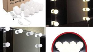 Best Light Bulbs for Makeup Vanity Hollywood Style Led Vanity Mirror Lights Kit 10 Bright Bulbs with