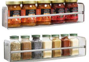 Best organic Spice Rack Amazon Com Decobros 2 Pack Wall Mount Single Tier Mesh Spice Rack