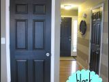 Best Paint for Interior Doors and Baseboards Love This Look Black Painted Interior Doors Plus A Neat Hint On