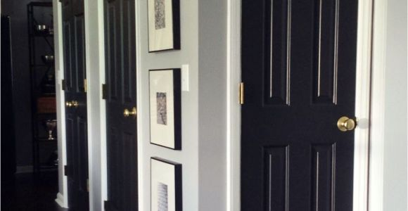 Best Paint for Interior Doors Uk How to Paint Interior Doors Black Update Brass Hardware White