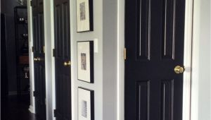 Best Paint for Interior Doors White How to Paint Interior Doors Black Update Brass Hardware White