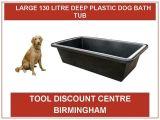 Big Bathtubs Uk Large Large Deep Plastic Water Dog Bath Tub 130 Ltr