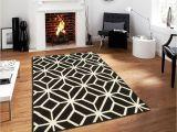 Big Fur area Rug Black Moroccan Trellis 8×11 area Rug Carpet Abstract Large New