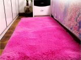 Big Pink Fur Rug 40 60cm Rectangle soft Fluffy Rugs Anti Skid Shaggy area Rug Dining