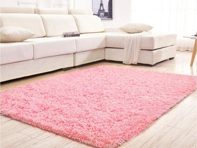Big Pink Fur Rug Amazon Com Yj Gwl Soft Shaggy Area Rugs For Girls