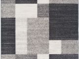 Black and White Aztec Print Rug World Rug Gallery Avora Modern Boxes Design 506 Gray Non Slip Non