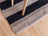 Black and White Striped Accent Rug Mocka Rec Rug Living Decor Shop now
