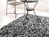 Black Fuzzy Bathroom Rug Shag Black and White Modern Rug atlantic Rugs Design Special