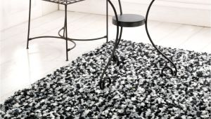 Black Fuzzy Throw Rug Shag Black and White Modern Rug atlantic Rugs Design Special