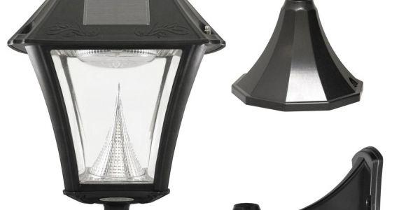 Black Pvc Lamp Post solar Post Lighting Outdoor Lighting the Home Depot