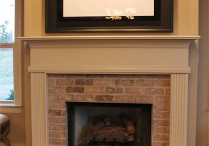 Black Quartz Fireplace Surround Half Brick Fireplace Surround with Elevated Hearth Home Decor