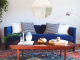 Blue and orange Living Room orange Home Decor Raaschaos
