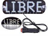 Blue Lights for Firefighters 1pcs Libre Led Sign Light White Red Blue Logo Glow Signs 12v Car