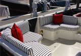 Boat Interior Restoration Michigan Red White Blue Cockpit Boston Yacht Sales Custom Fabrics S S