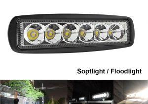 Boat Running Lights 1550lm 6 Inch 18w Led Work Light Bar Offroad Flood Light Spot Light