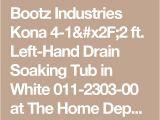 Bootz 54 Inch Bathtub Bootz Industries Kona 4 1 2 Ft Left Hand Drain soaking
