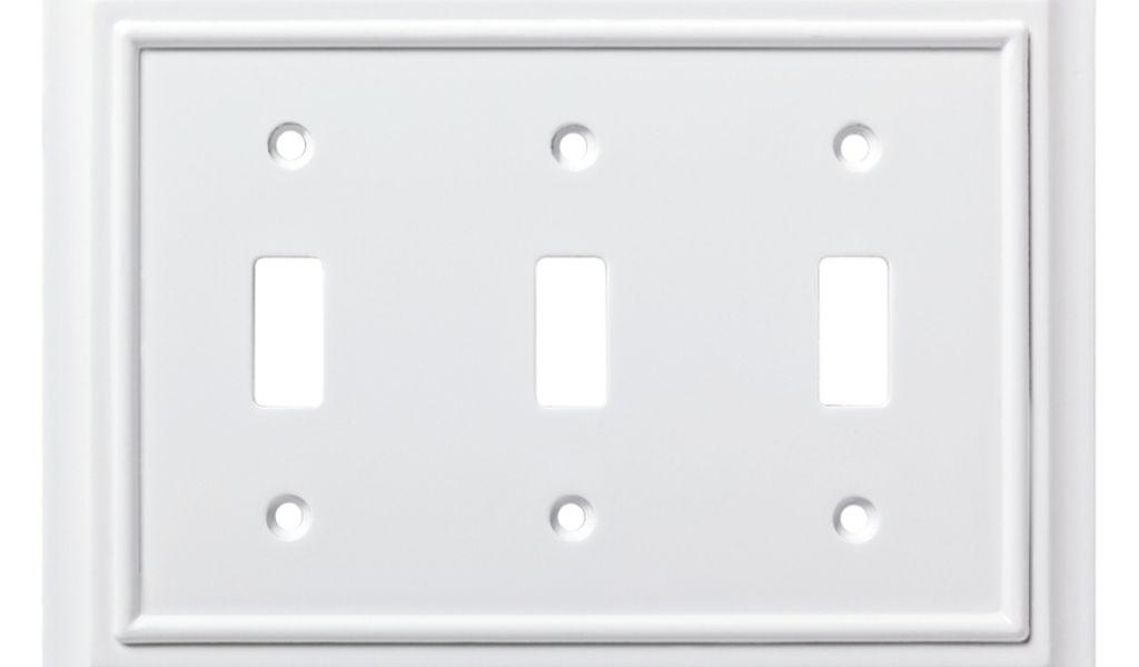 Brainerd Light Switch Covers Shop Brainerd Architectural 3 Gang Pure