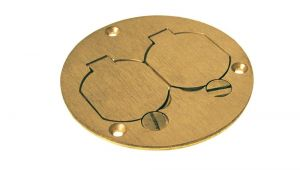 Brass Floor Outlet Cover Raco Round Floor Box Duplex Brass Cover with Lift Lids 6249 the
