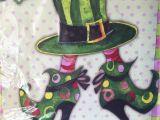 Breeze Art Garden Flags Evergreen Silk Reflections Garden Flag Lady Leprechaun Boots