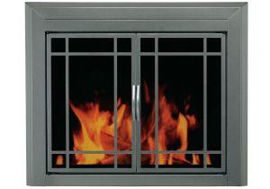 Brushed Nickel Fireplace Screen Pleasant Hearth Edinburg Large Glass Fireplace Doors Glass