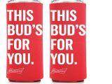 Bud Light 24 Pack 2 New Authentic Budweiser 25oz Beer Koozie Coolie Hugie Cooler 24