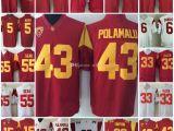 Bud Light Jersey Online Cheap Mens Usc Trojans Troy Polamalu College Football Jerseys