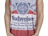 Bud Light Tank top Amazon Com Calhoun Sportswear Mens Budweiser King Of Beers Faded