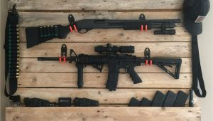 Building A Gun Rack for Wall Pallet Gun Rack Puppyzolt Pinterest Guns Pallets and Weapons
