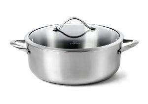Calphalon Contemporary Stainless Roasting Pan with Rack Amazon Com Calphalon Contemporary Stainless Steel Cookware Dutch