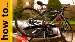 Canadian Tire Vehicle Bicycle Rack How to Fit A High Mount Cycle Carrier Youtube