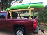 Canoe and Kayak Racks for Trucks Another View Of My Homemade Kayak Rack Camping Fishing