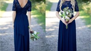 Cap Sleeve Bridesmaid Dresses Floor-length 2018 Country Bridesmaid Dresses Hot Long for Weddings Navy Blue