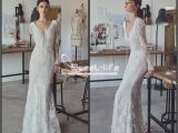 Cap Sleeve Bridesmaid Dresses Floor Length Vintage Lace 2018 Mermaid Wedding Dresses Custom Made Plunging