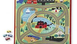 Car Rugs for toddlers Melissa Doug Round the town Road Rug and Car Activity Play Set