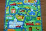 Car Rugs for toddlers This Large Quilted Play Mat Of A town Scene Will Provide Hours Of