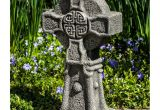 Celtic Cross Garden Art Campania International Celtic Cross Cast Stone Garden Statue S 474