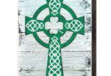 Celtic Cross Garden Art Saint Patrick S Decorated Celtic Cross Wooden Wall Decor