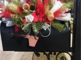 Cemetery Christmas Decoration Ideas Holiday Custom order for Christmas Saddle Use as A Mailbox Table