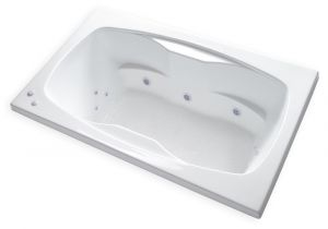 "Center Drain Whirlpool Bathtubs Carver Tubs Ar6042 60"" X 42"" Drop In Center Drain White 12"