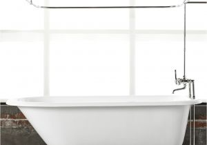 Ceramic Bathtubs for Sale 5 1 2 Clawfoot Tub with White Exterior