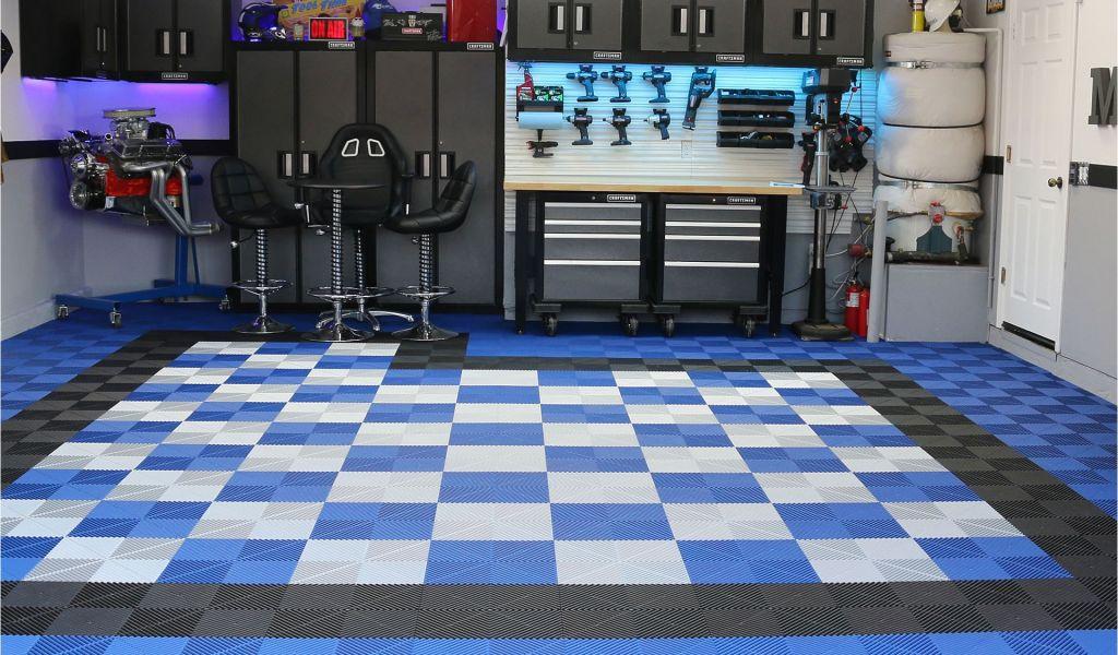 Cheap Garage Floor Covering Ideas Checkered Garage Floor Tiles L
