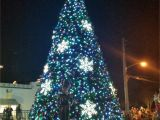 Christmas Lights that Play Music Mount Doras Tree Located In the Heart Of the New Pedestrian Plaza