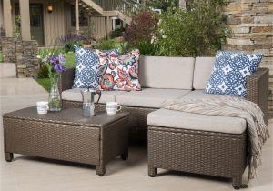 Christopher Knight Home Puerta Grey Outdoor Wicker Sofa Set Modern