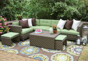 Clara Indoor Outdoor Wicker sofa Cushion Set Made with Sunbrella Fabric Ae Outdoor Hampton 8 Piece Sunbrella Sectional Set with Cushions