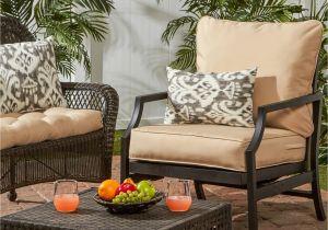 Clara Indoor Outdoor Wicker sofa Cushion Set Made with Sunbrella Fabric Shop Greendale Deep Seat Outdoor Back and Seat Cushion Set 25 W X