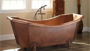 Claw Foot Tub In Bathroom Mariel Eight Sided Hammered Copper Clawfoot Tub Bathroom