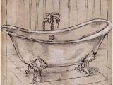 Clawfoot Bathtub Drawing Black Line Drawing Of A Claw Foot Tub Google Search