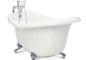 Clawfoot Bathtub Faucet Lowes American Bath Factory Chelsea 60 In Acrylic Slipper